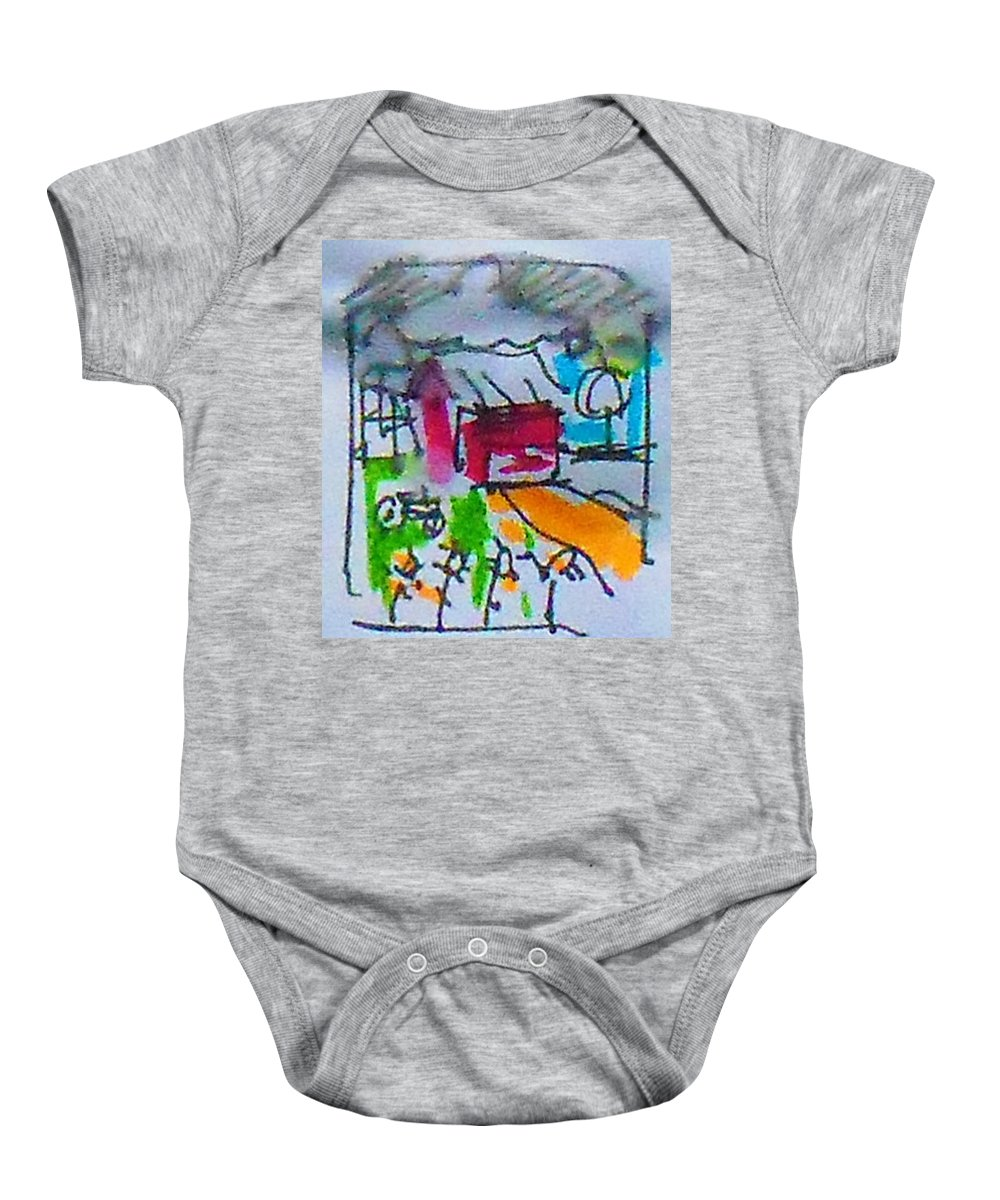 Farm Baby Onesie featuring the mixed media Tree by Samuel Zylstra