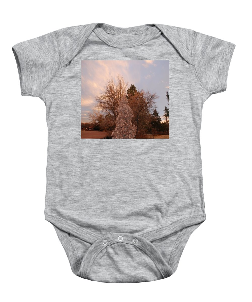 Trees Baby Onesie featuring the photograph Trees At The State Capital by Rob Hans