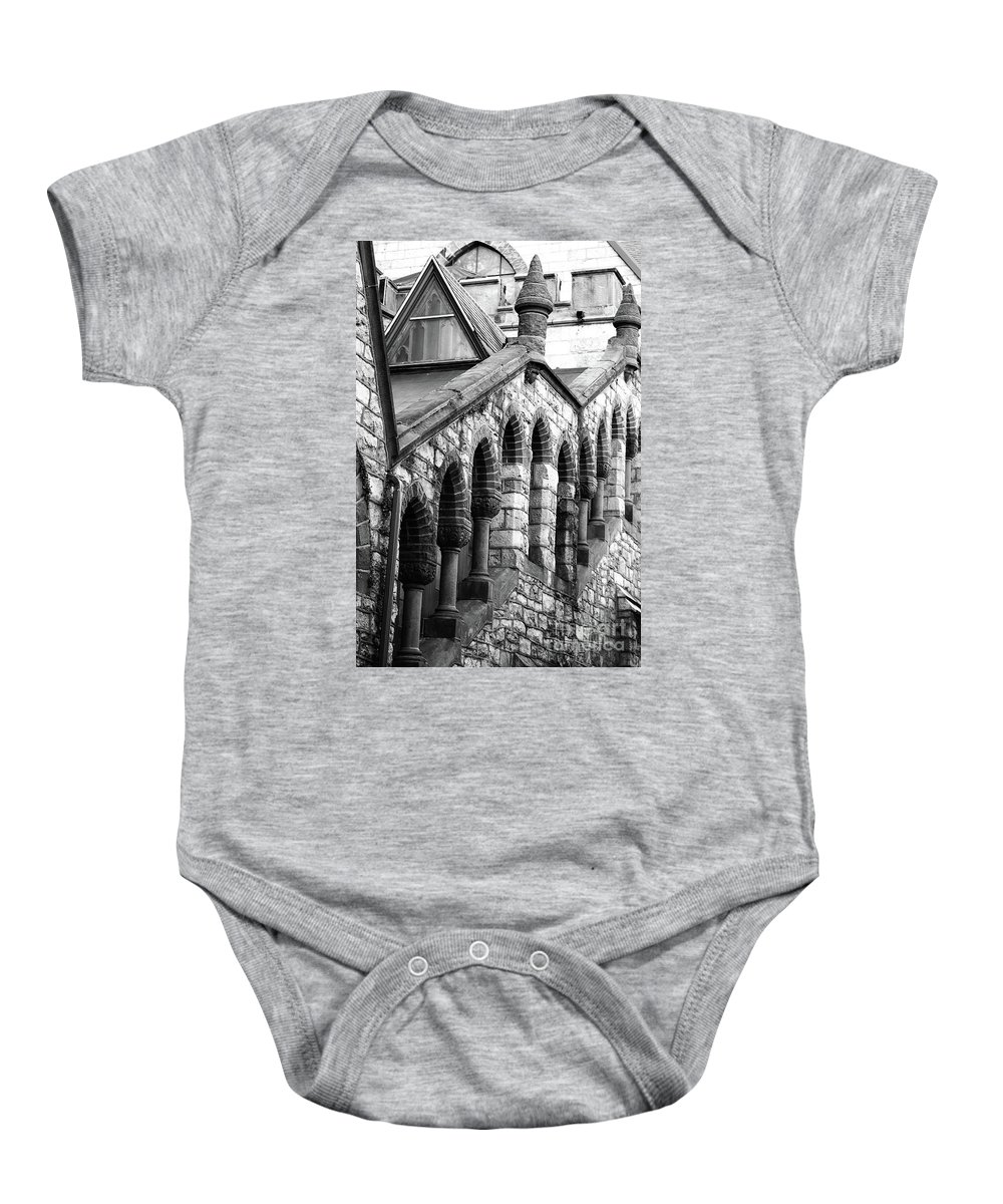 Architecture Baby Onesie featuring the photograph Triangle View by Lori Tambakis
