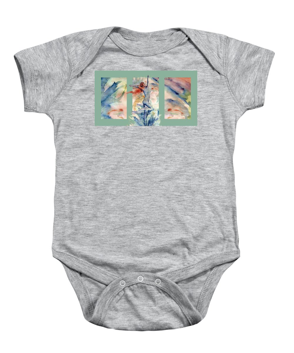 Abstract Baby Onesie featuring the painting Tribute by Steve Karol