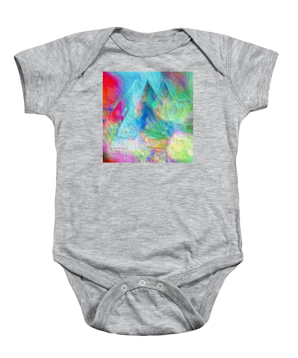 Abstract Baby Onesie featuring the photograph Tricolour by Rita Koivunen