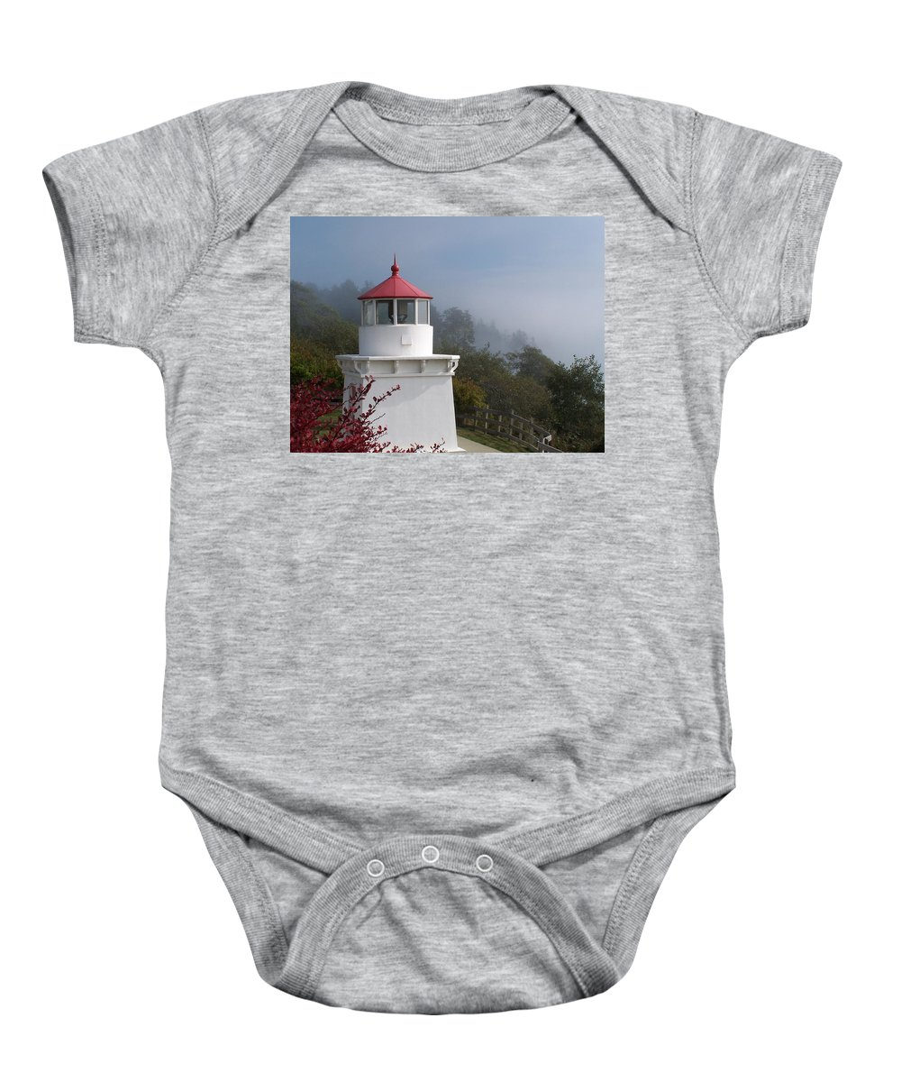 Lighthouse Baby Onesie featuring the photograph Trinidad Head Lighthouse by Gale Cochran-Smith