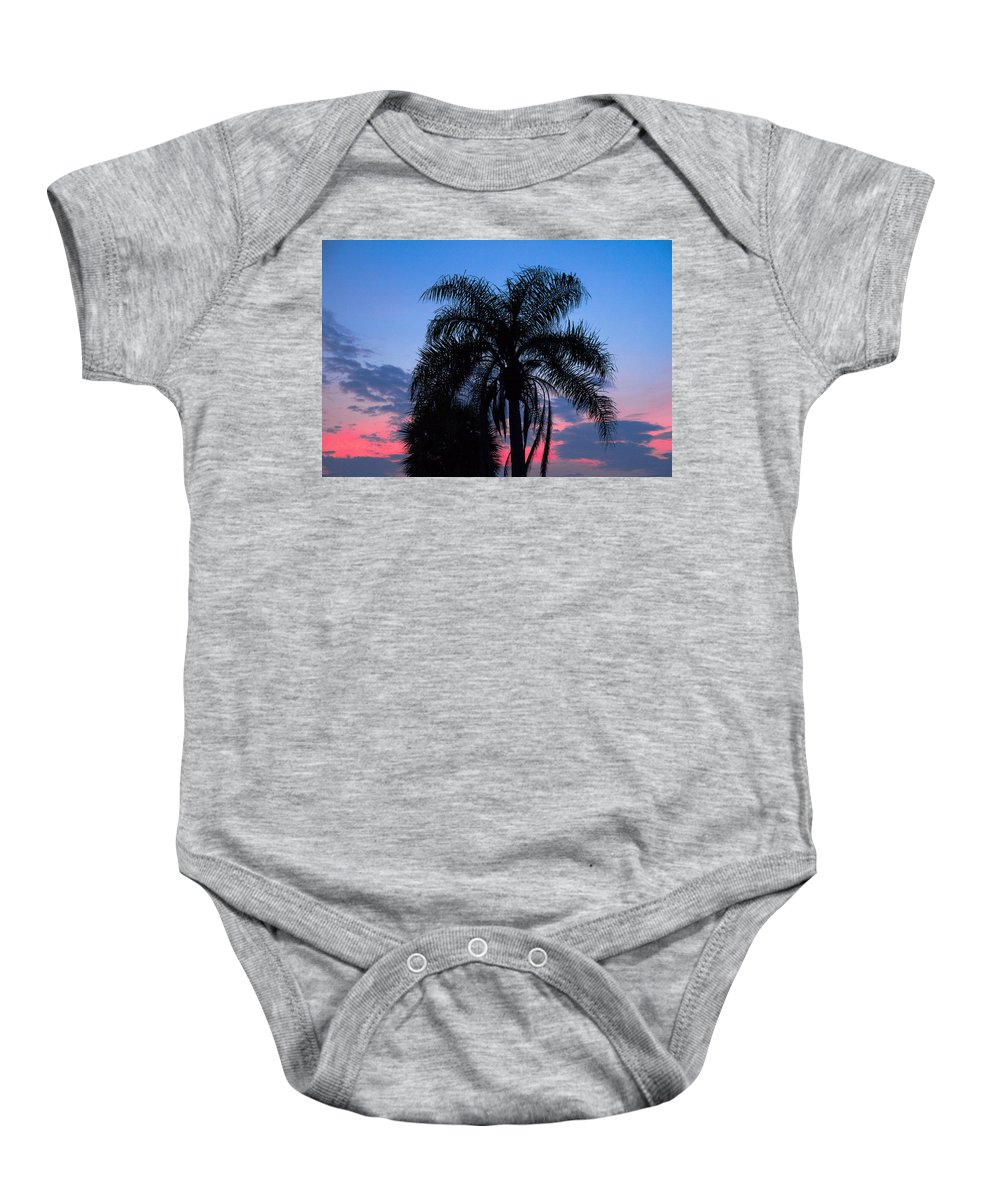 Florida; Sunset; Sun; Sunrise; Set; Setting; Rise; Rising; Summer; Melbourne; Beach; Atlantic; Coast Baby Onesie featuring the photograph Tropic Sunset In Floirida by Allan Hughes