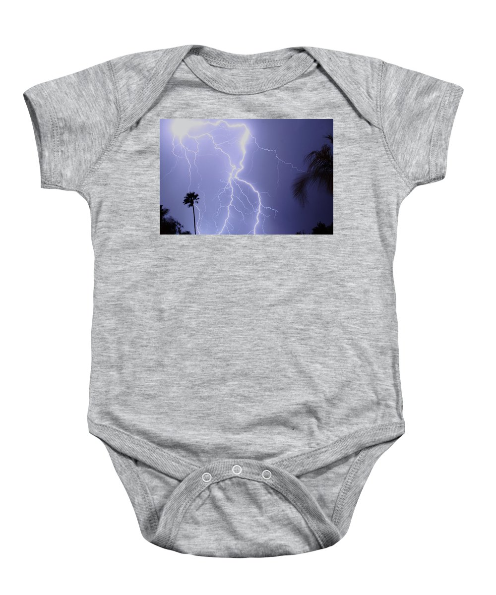 Lightning Baby Onesie featuring the photograph Tropical Storm Ll by James BO Insogna