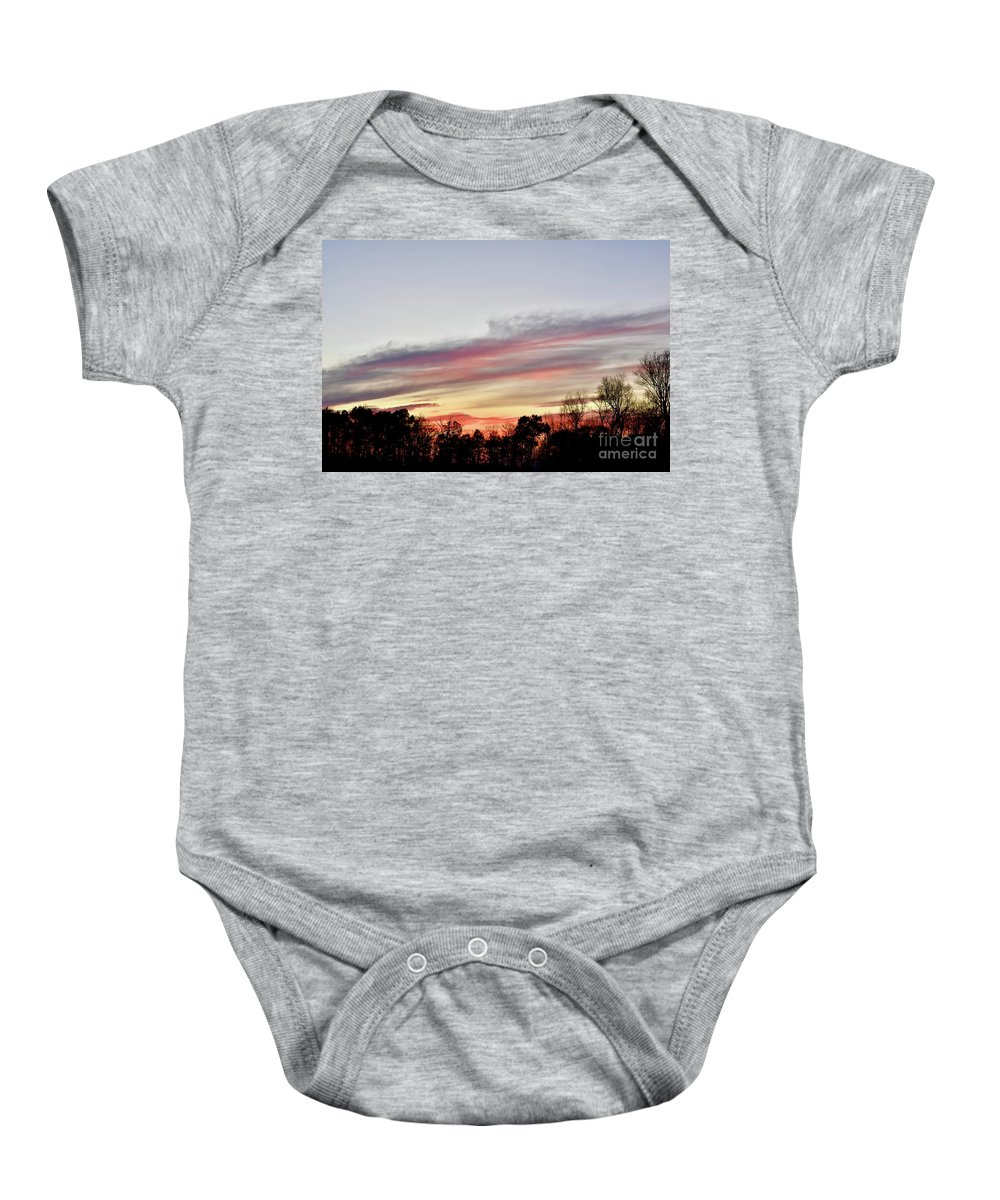 Amazing Sunset Baby Onesie featuring the photograph True Colors by Jeramey Lende
