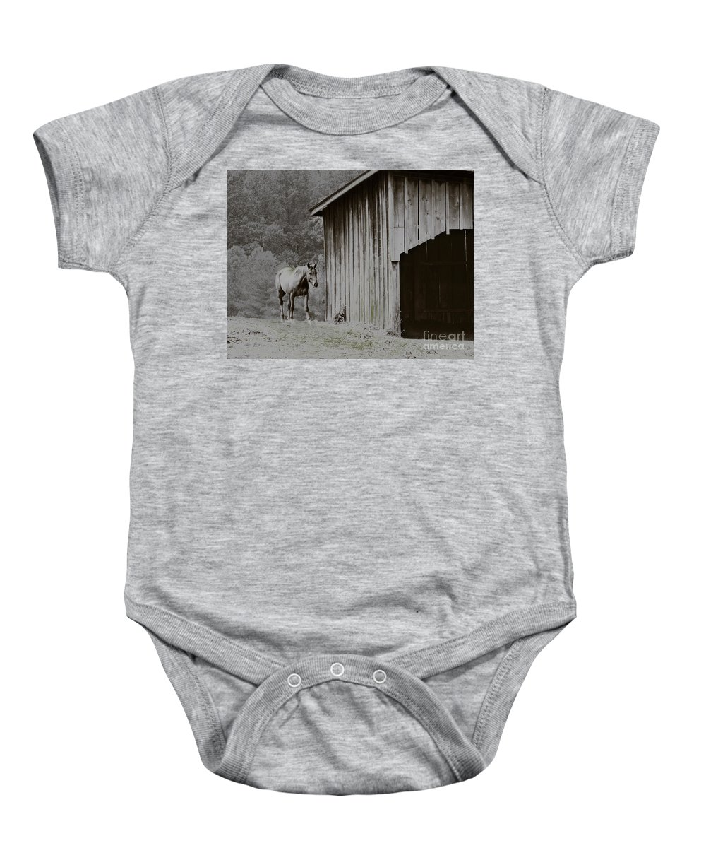Animal Baby Onesie featuring the photograph Trust by Dana DiPasquale