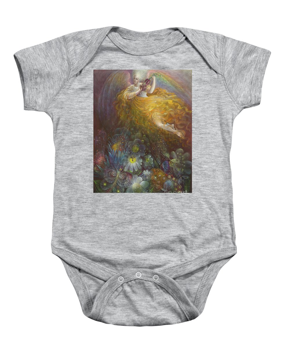 Angel Baby Onesie featuring the painting Truth Shall Spring Out Of The Earth And Righteousness Shall Look Down From Heaven by Annael Anelia Pavlova