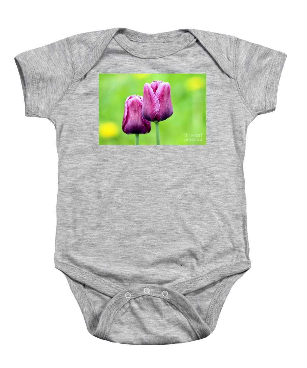 Flower Baby Onesie featuring the photograph Tulips by Teresa Zieba