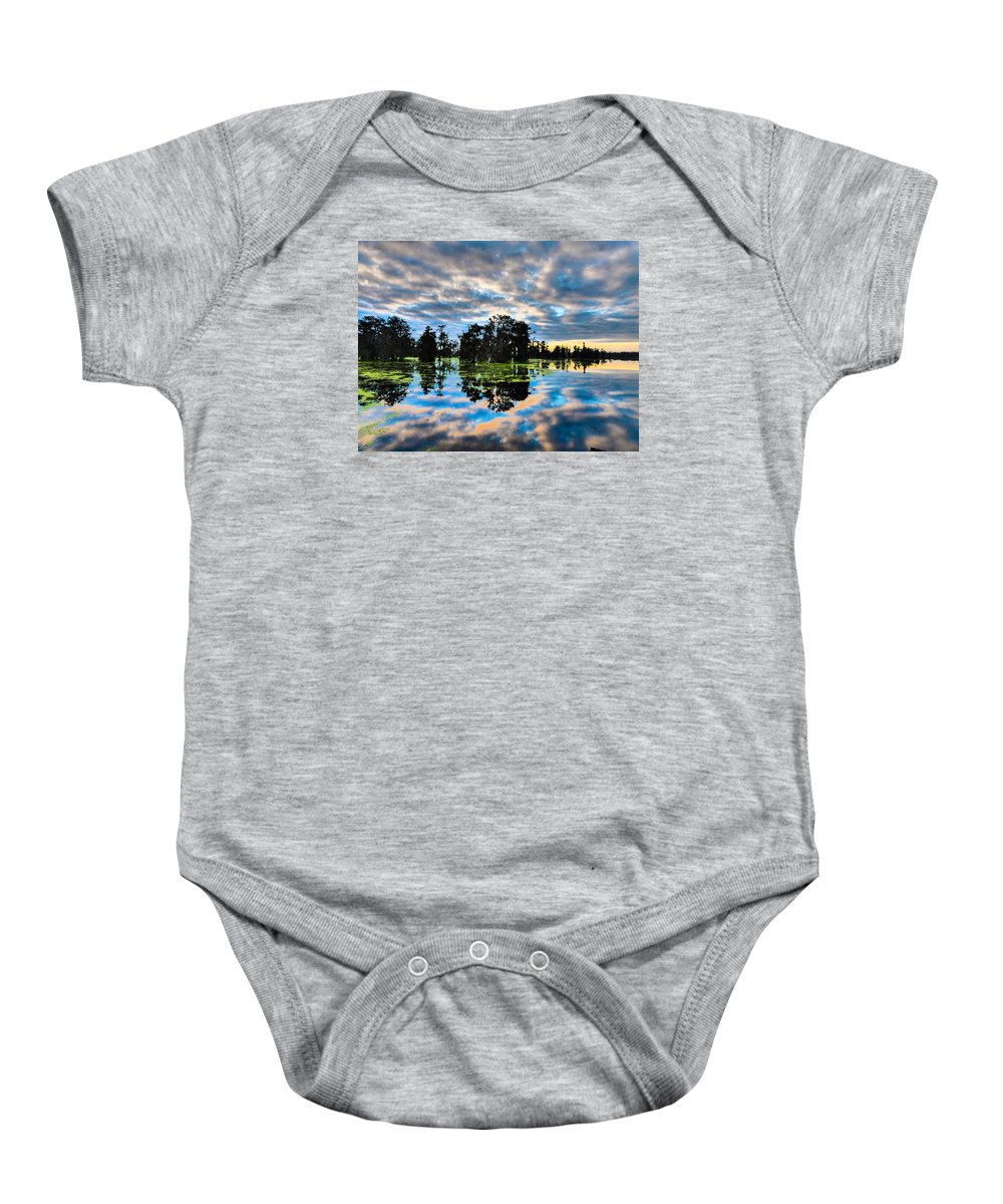 Orcinus Fotograffy Baby Onesie featuring the photograph Tumultuous Swamp by Kimo Fernandez