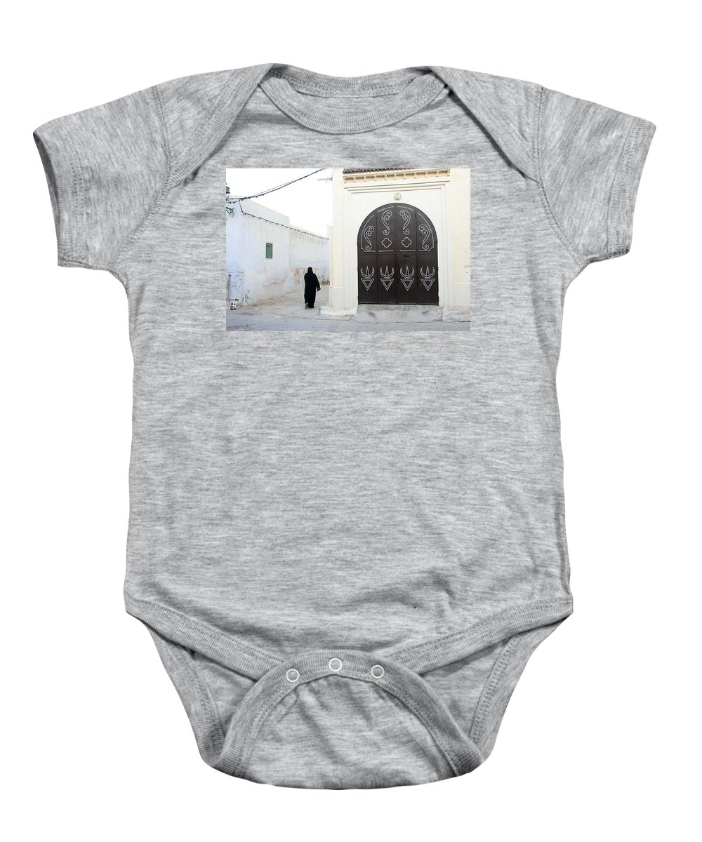 Tunisiandoor Baby Onesie featuring the photograph Tunisiandoor3 by Yesim Tetik
