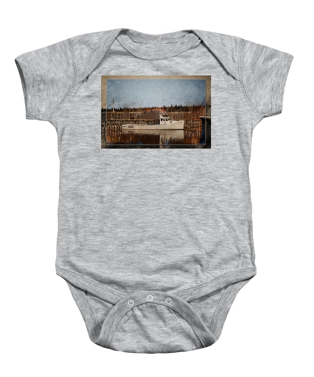 Fishing Baby Onesie featuring the photograph Twin Peaks by WB Johnston