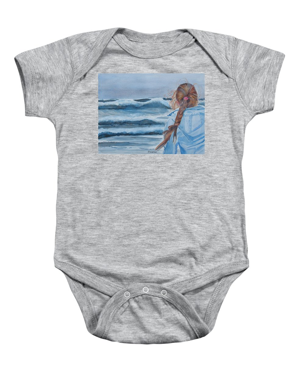 Ocean Baby Onesie featuring the painting Twixt Wind And Water II by Jenny Armitage