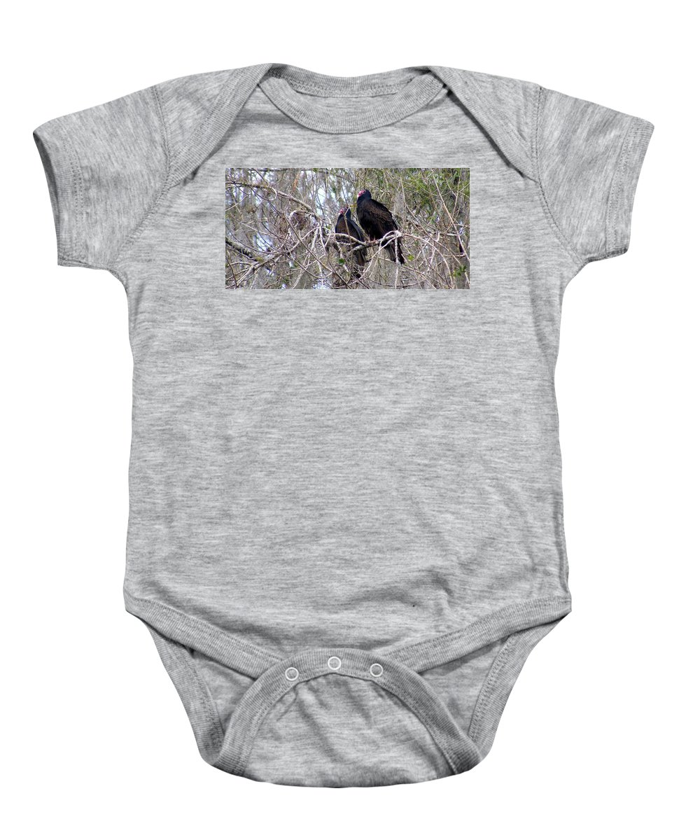 Birds Baby Onesie featuring the photograph Two Friends by Ed Smith