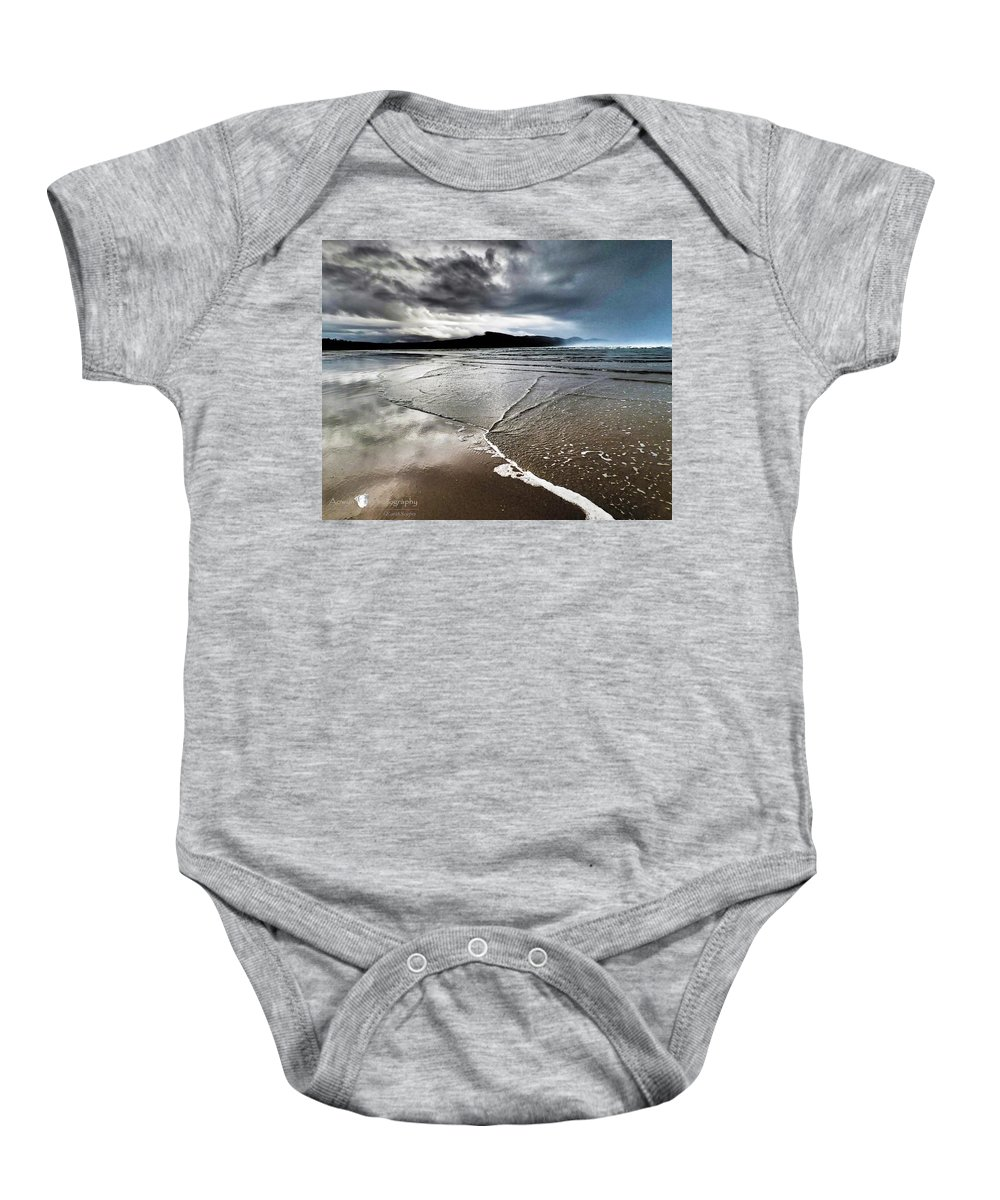 Beach Baby Onesie featuring the photograph Two Skies by Stephanie McGuire