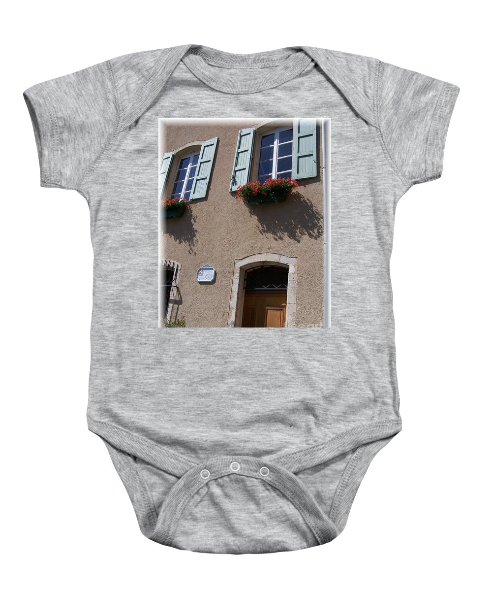 House Baby Onesie featuring the photograph Un Maison by Nadine Rippelmeyer