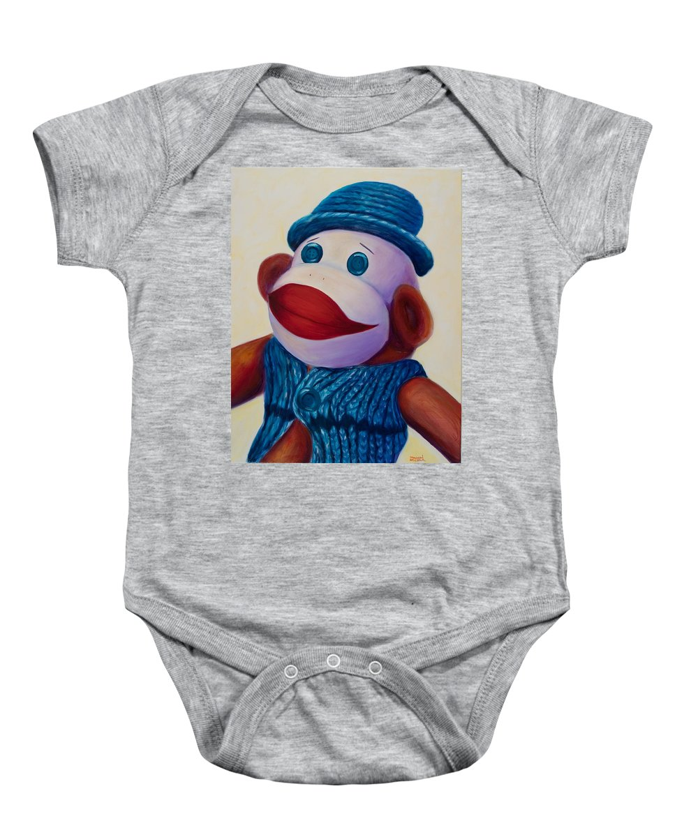 Children Baby Onesie featuring the painting Uncle Frank by Shannon Grissom