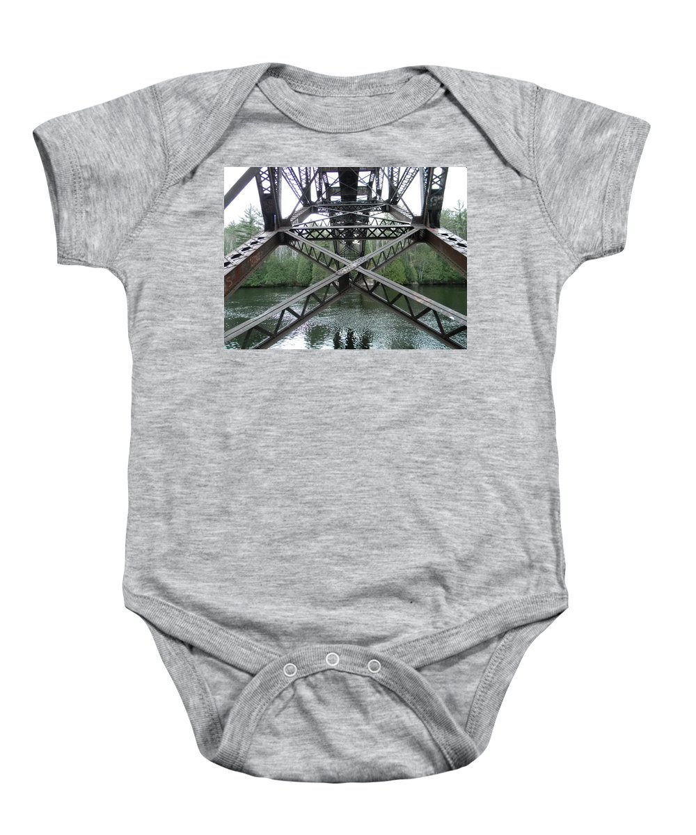 Water Baby Onesie featuring the photograph Under The Bridge by Jason Asselin