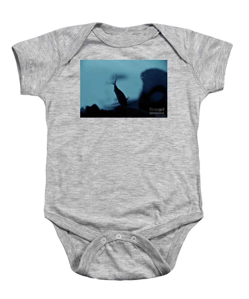 Underwater Baby Onesie featuring the photograph Underwater by Ilaria Andreucci