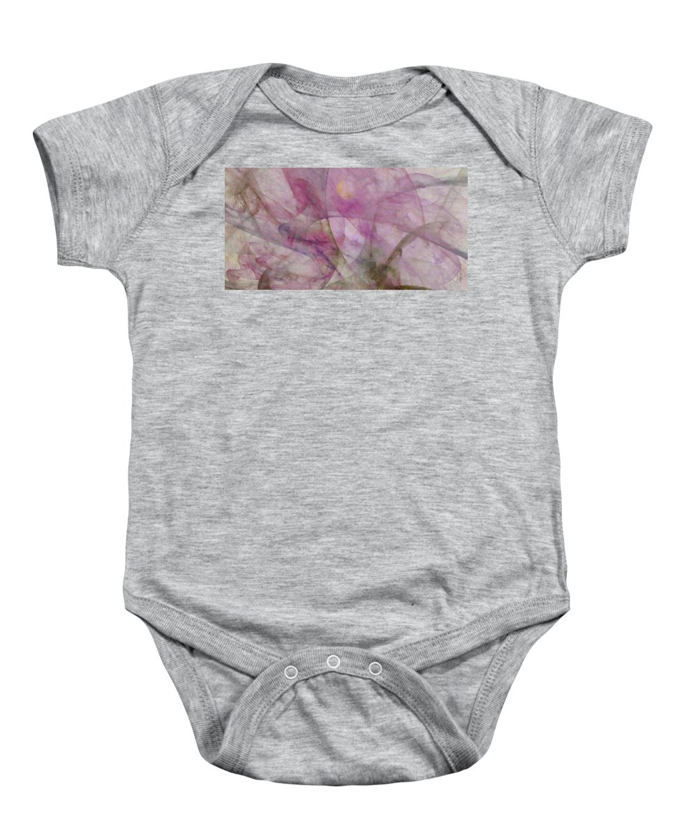 Dreamlike Baby Onesie featuring the painting Unlicentiated Coarseness Id 16099-020152-72430 by S Lurk