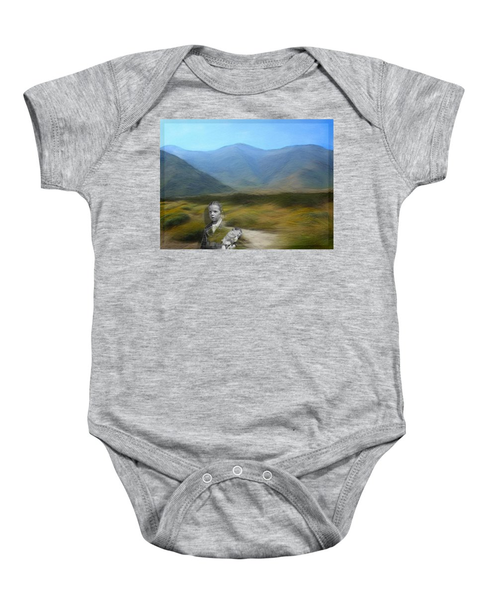 Desert Baby Onesie featuring the digital art Unresolved by Snake Jagger