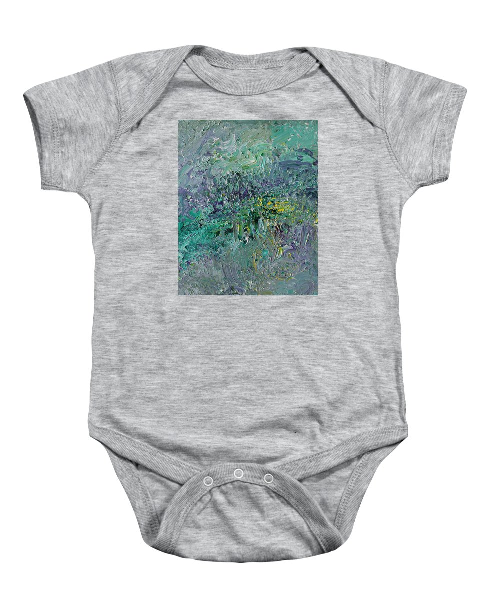 Fusionart Baby Onesie featuring the painting Blind Giverny by Ralph White