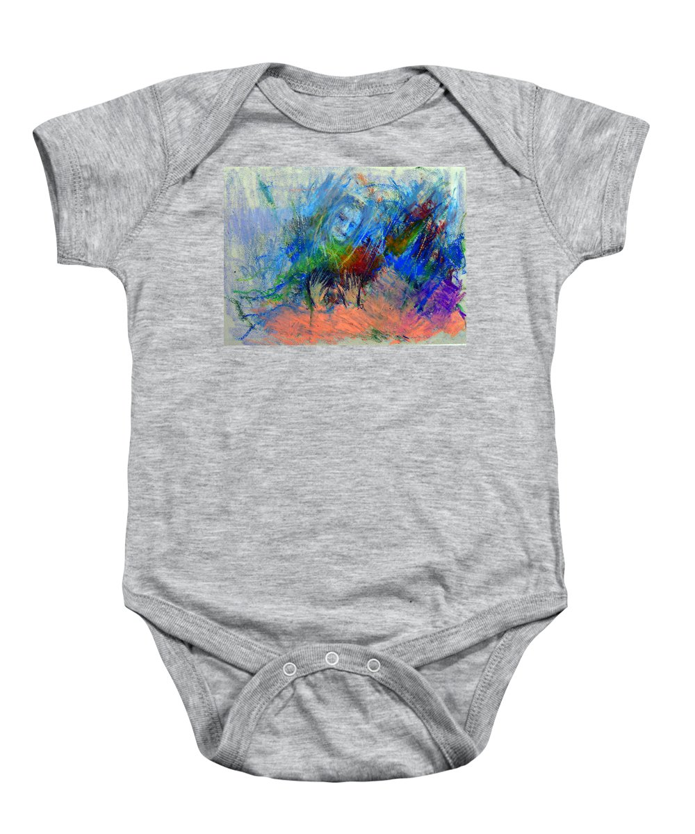 Meher Baba Baby Onesie featuring the pastel Untitled 2 by Joe DiSabatino
