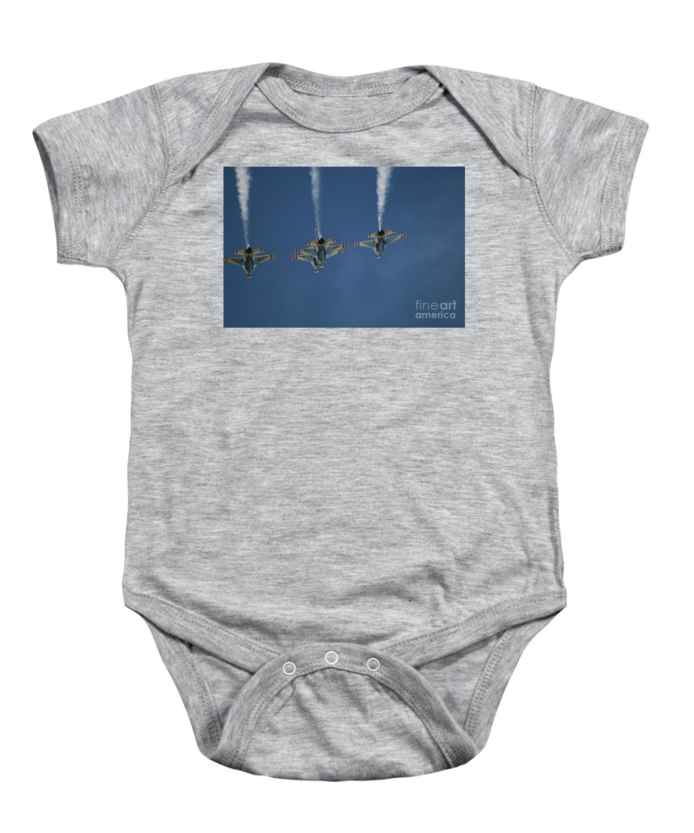 Aerial Baby Onesie featuring the photograph Up And Over by Chandra Nyleen