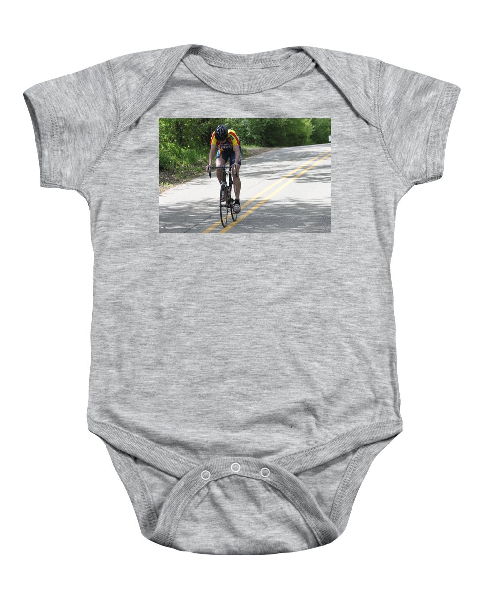Bike Baby Onesie featuring the photograph Uphill by Lauri Novak