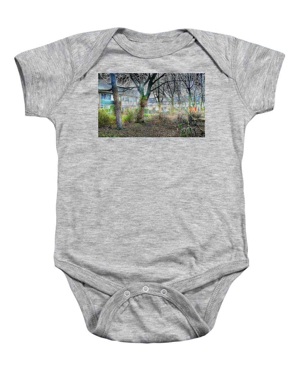 Nature Baby Onesie featuring the digital art Urban Mythical Nature Art by Marco De Mooy