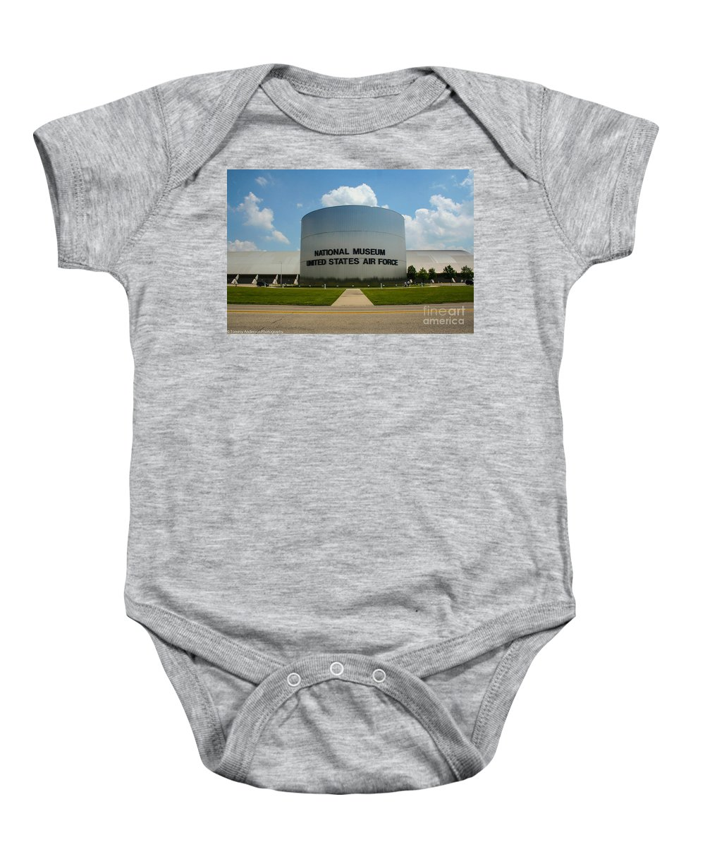 Usaf Museum Baby Onesie featuring the photograph Usaf Museum by Tommy Anderson