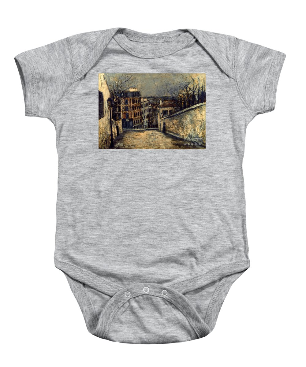 20th Century Baby Onesie featuring the photograph Utrillo: Mont-cenis by Granger