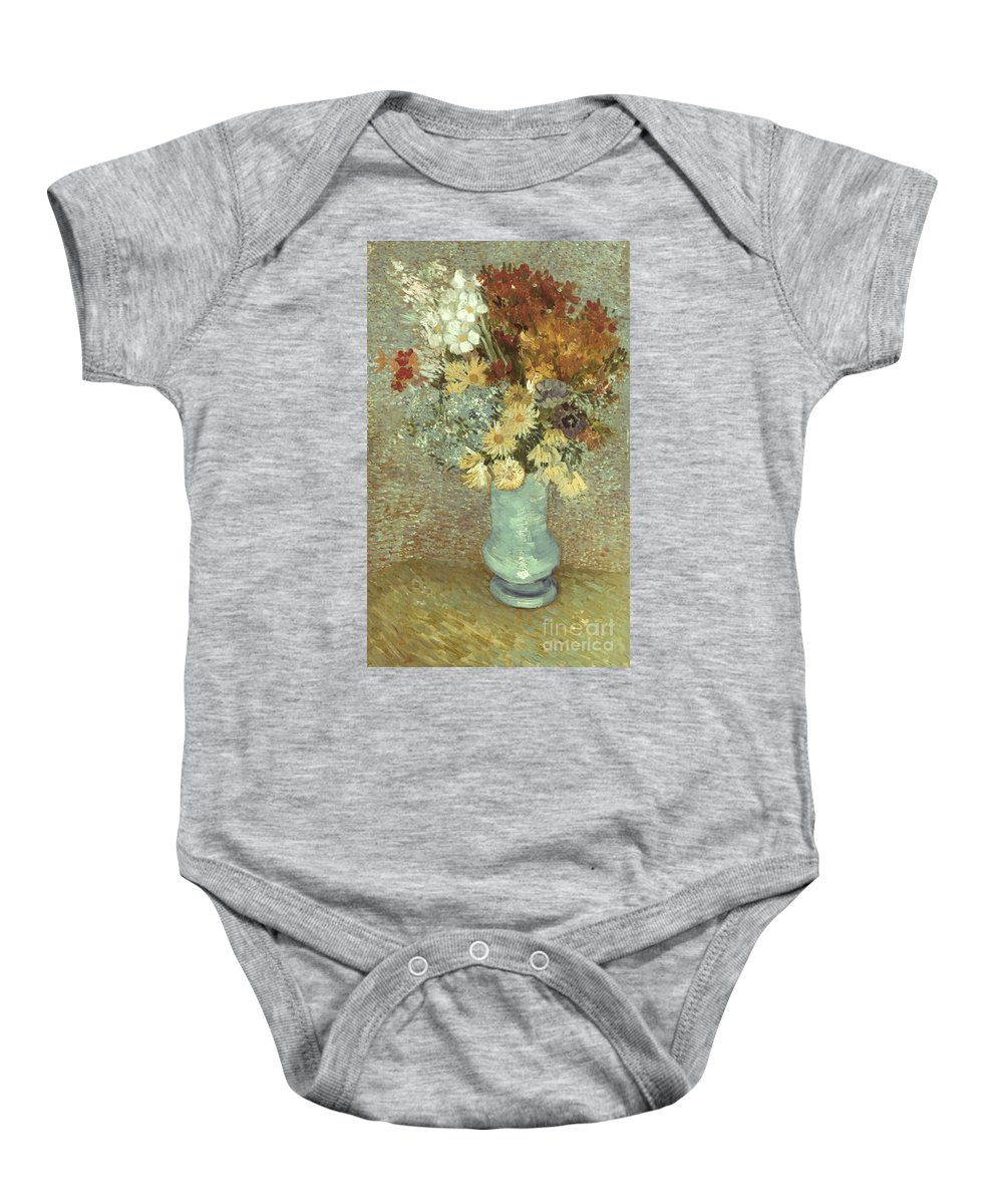 1887 Baby Onesie featuring the photograph Van Gogh: Flowers, 1887 by Granger