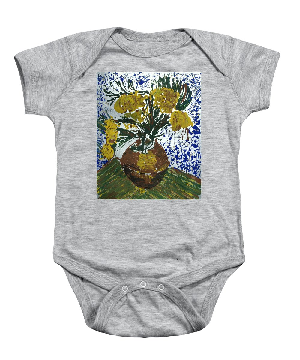 Flowers Baby Onesie featuring the painting Van Gogh by J R Seymour