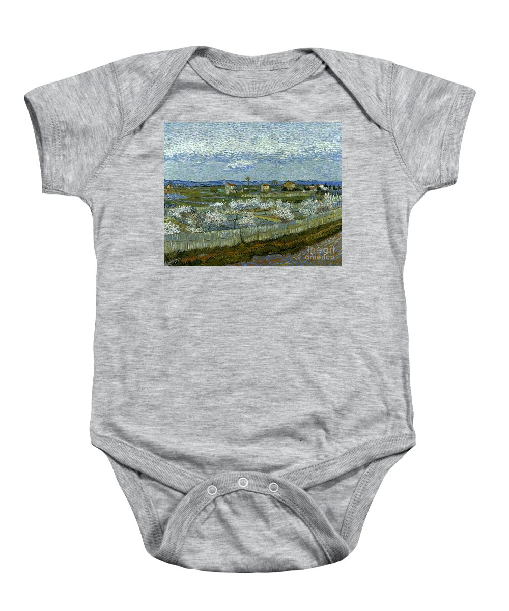 1889 Baby Onesie featuring the photograph Van Gogh: Peach Tree, 1889 by Granger
