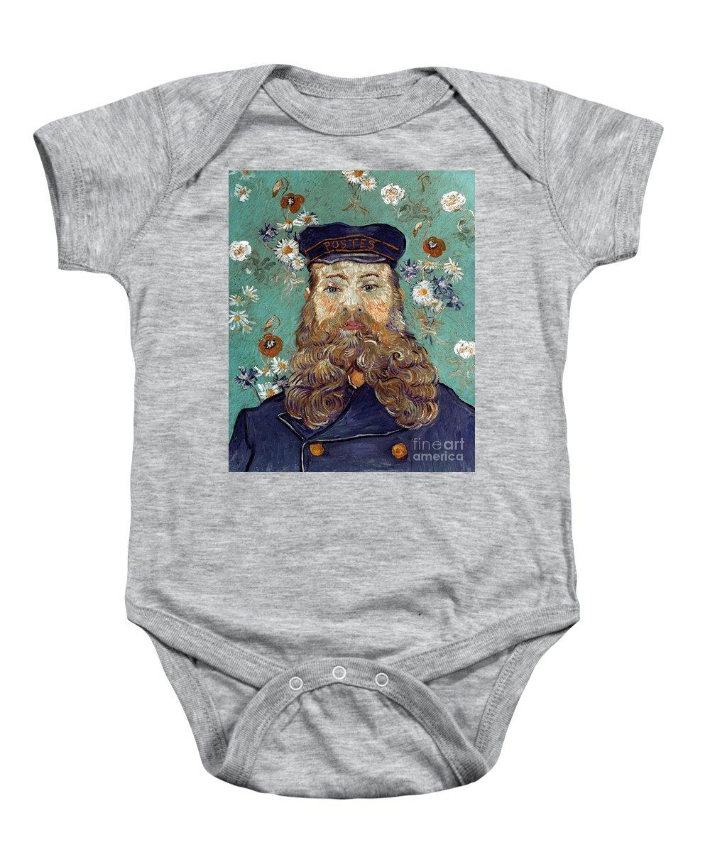 1889 Baby Onesie featuring the photograph Van Gogh: Postman, 1889 by Granger