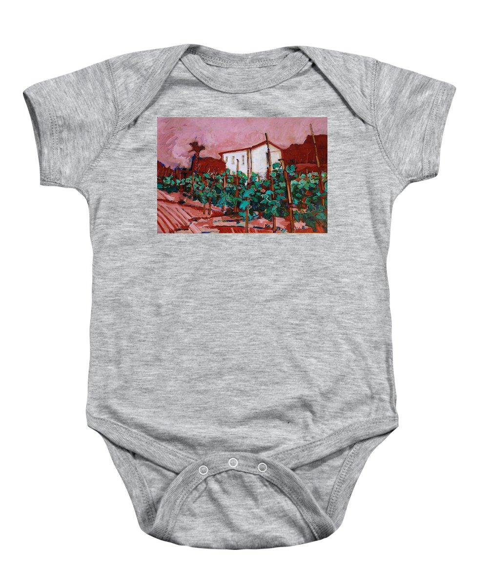 Tuscany Baby Onesie featuring the painting Vecchio Casa Di Pietro by Kurt Hausmann