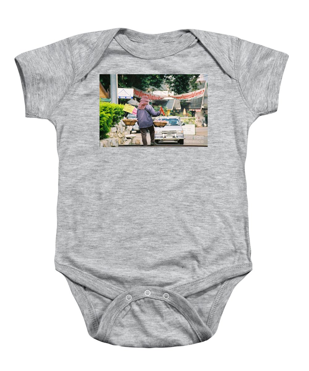 Sales Baby Onesie featuring the photograph Vendor by Mary Rogers