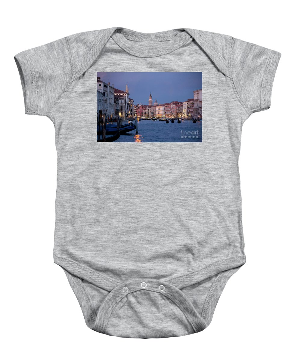 Venice Baby Onesie featuring the photograph Venice Blue Hour 2 by Heiko Koehrer-Wagner