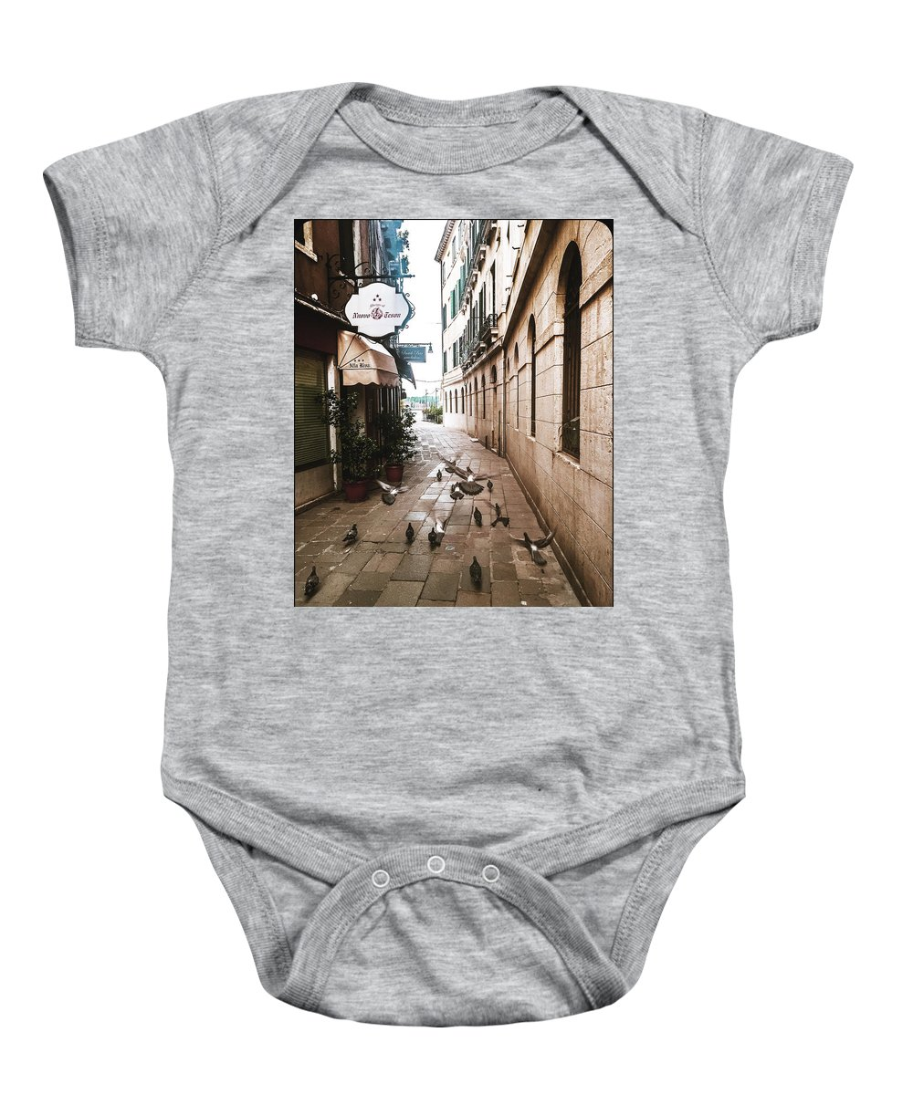 Venice Baby Onesie featuring the photograph Venice, Castello 2 by Chris Patel