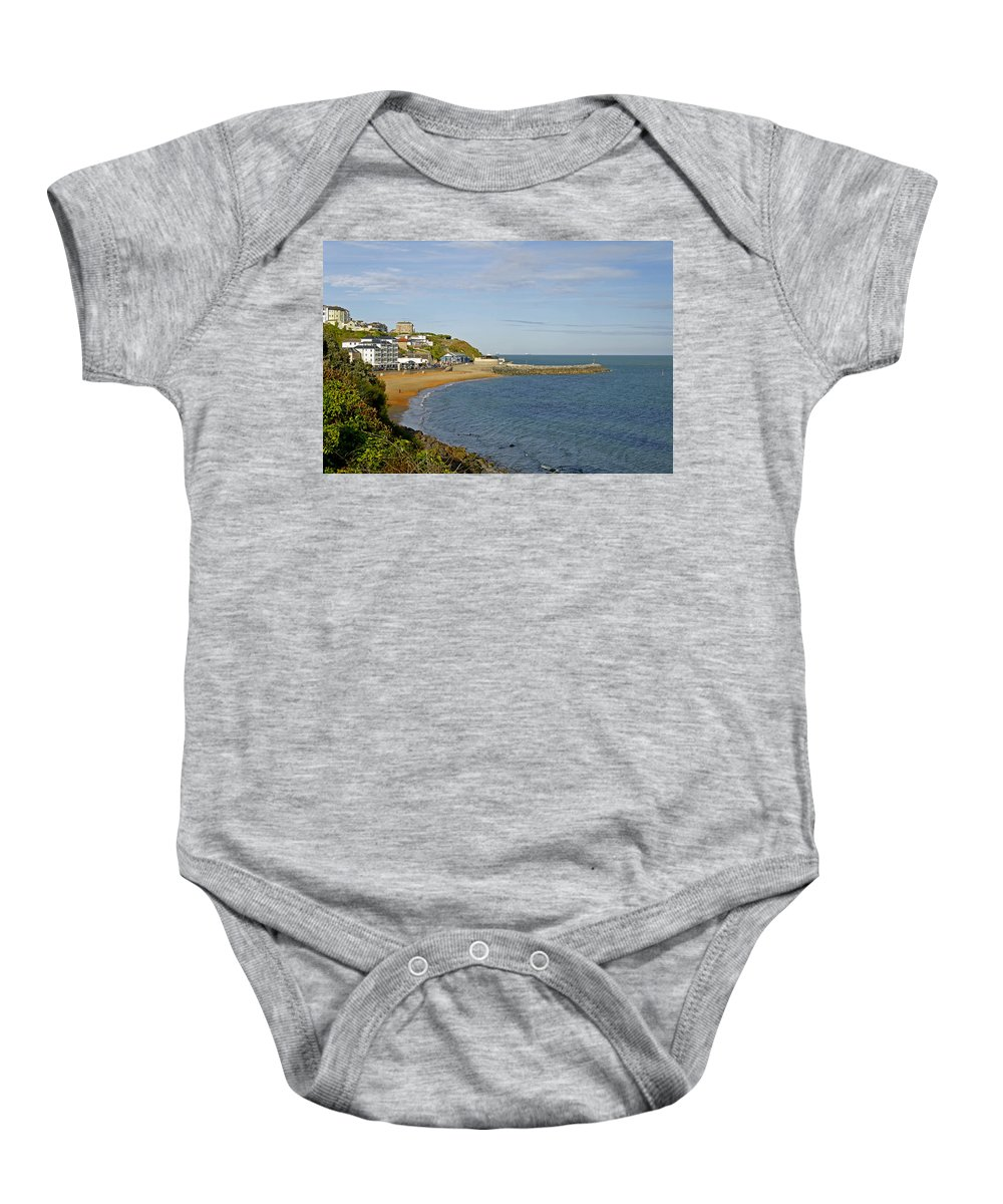 Isle Of Wight Baby Onesie featuring the photograph Ventnor Bay by Rod Johnson