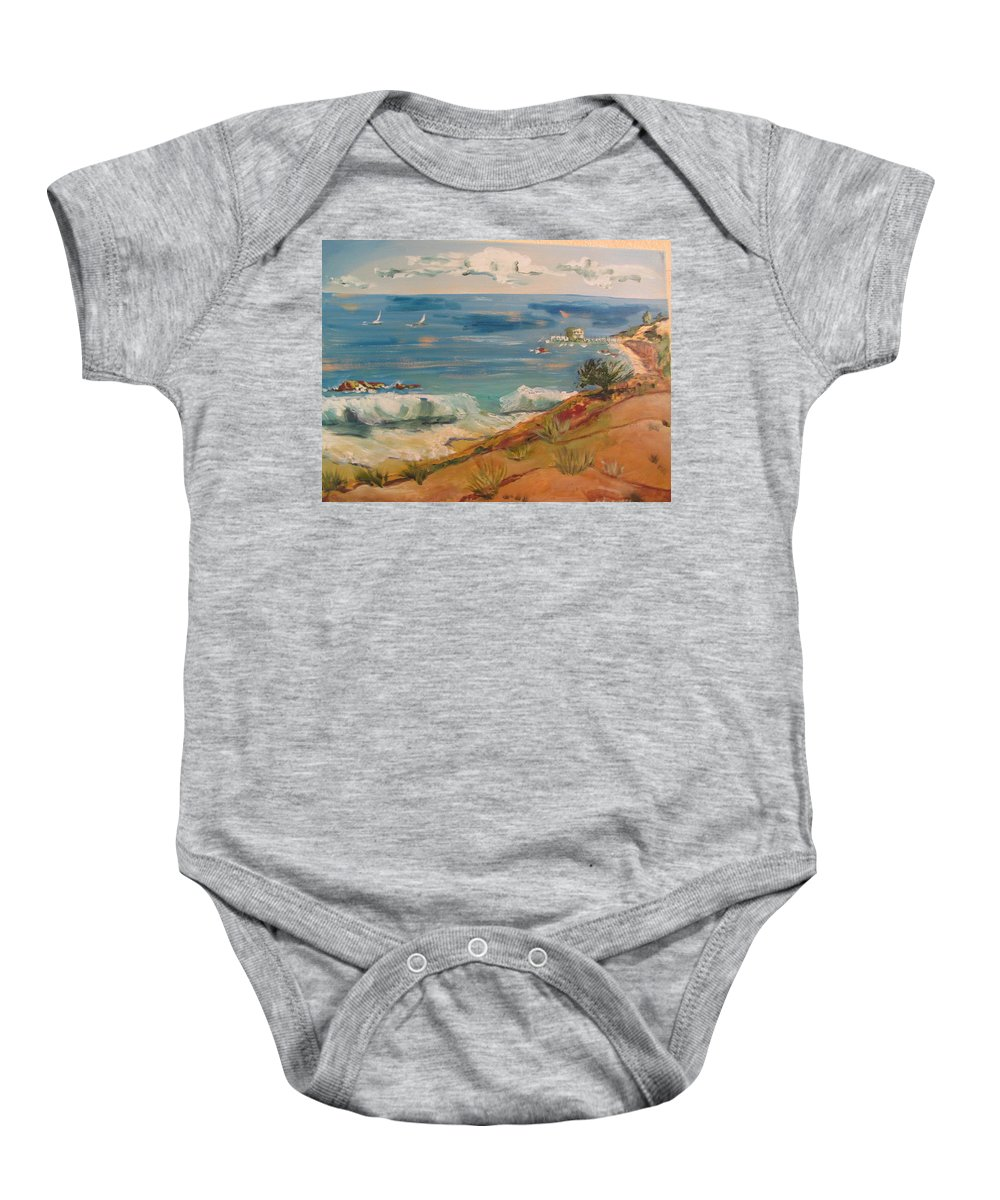 Coastline Baby Onesie featuring the painting Ventura Imagined by Dody Rogers