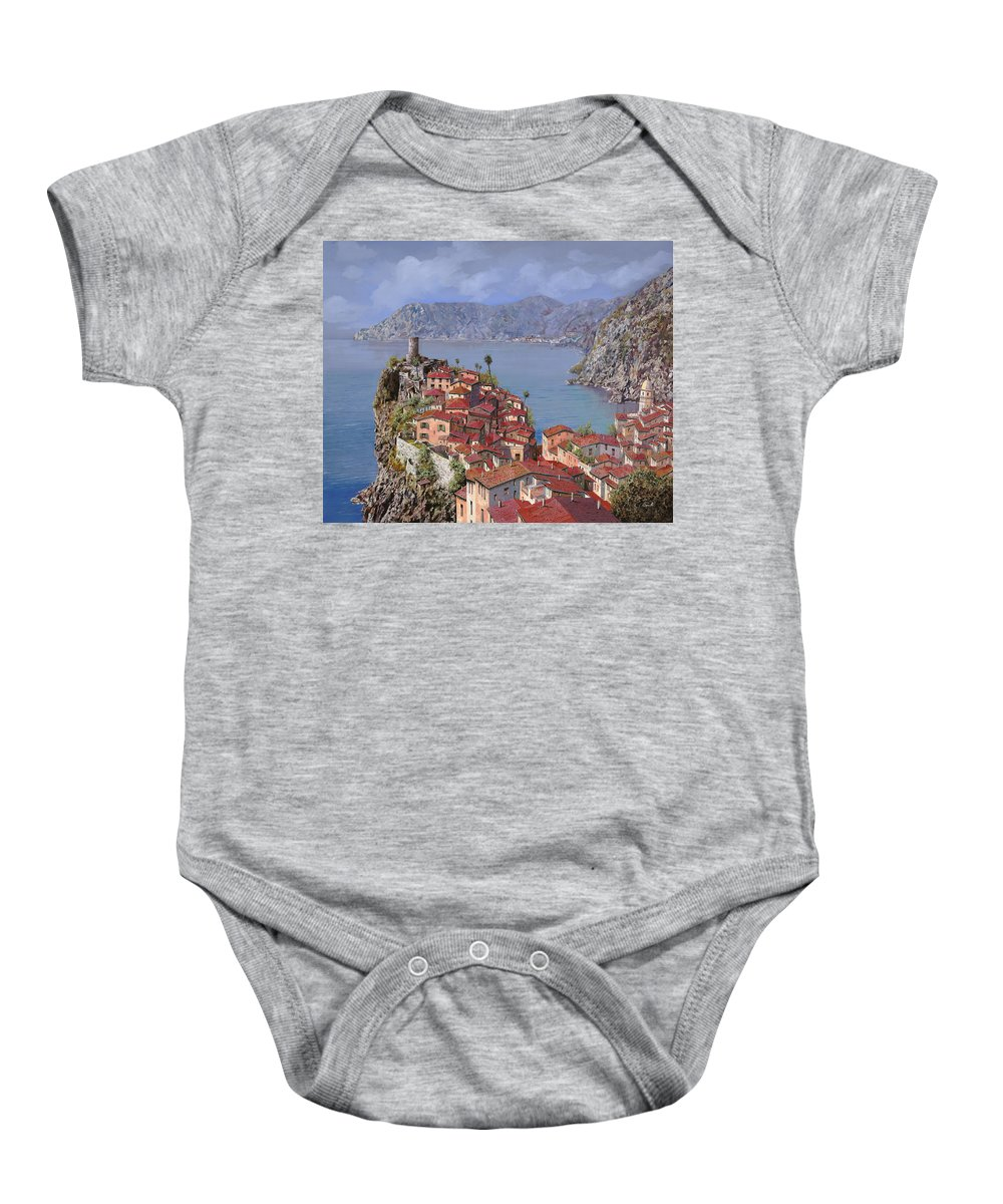 Seascapes Baby Onesie featuring the painting Vernazza-cinque Terre by Guido Borelli