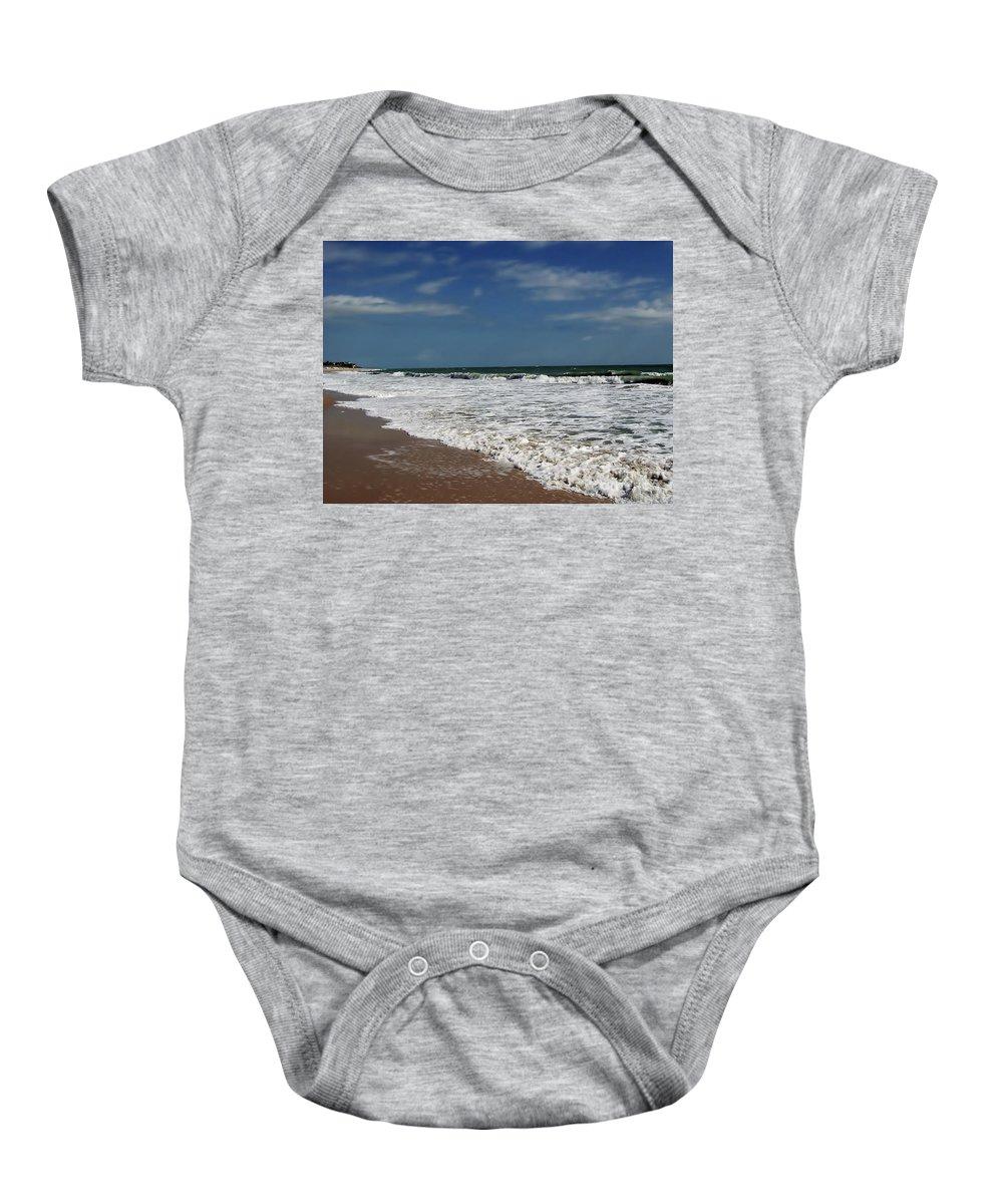 Vero Beach Baby Onesie featuring the photograph Vero Beach Surf by D Hackett