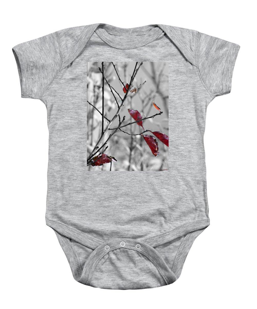 Macro Baby Onesie featuring the photograph Vestiges by Lauren Radke
