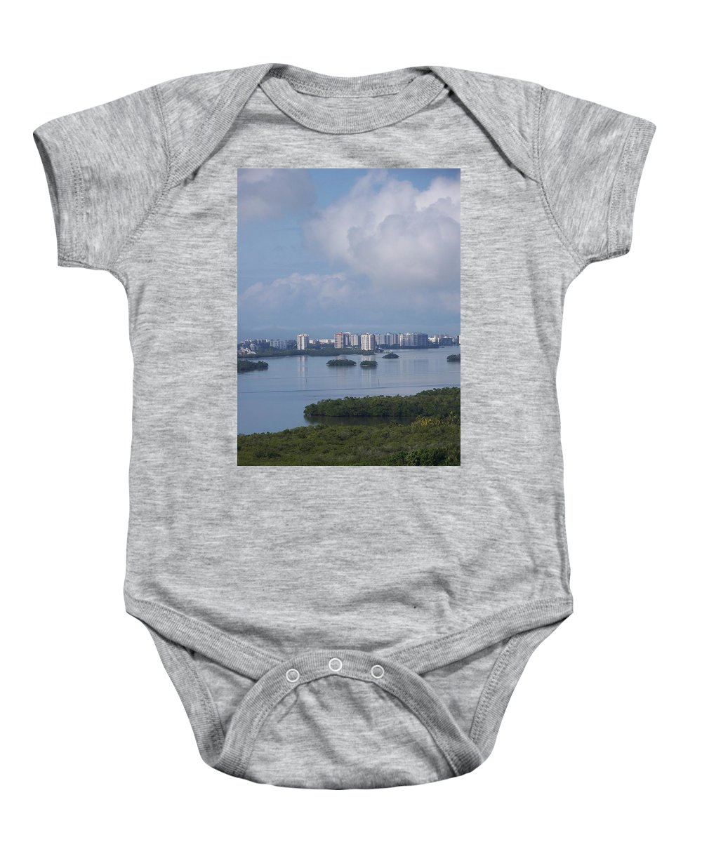 Fort Myers Beach Baby Onesie featuring the photograph View Of Fort Myers Beach by Laurie Paci