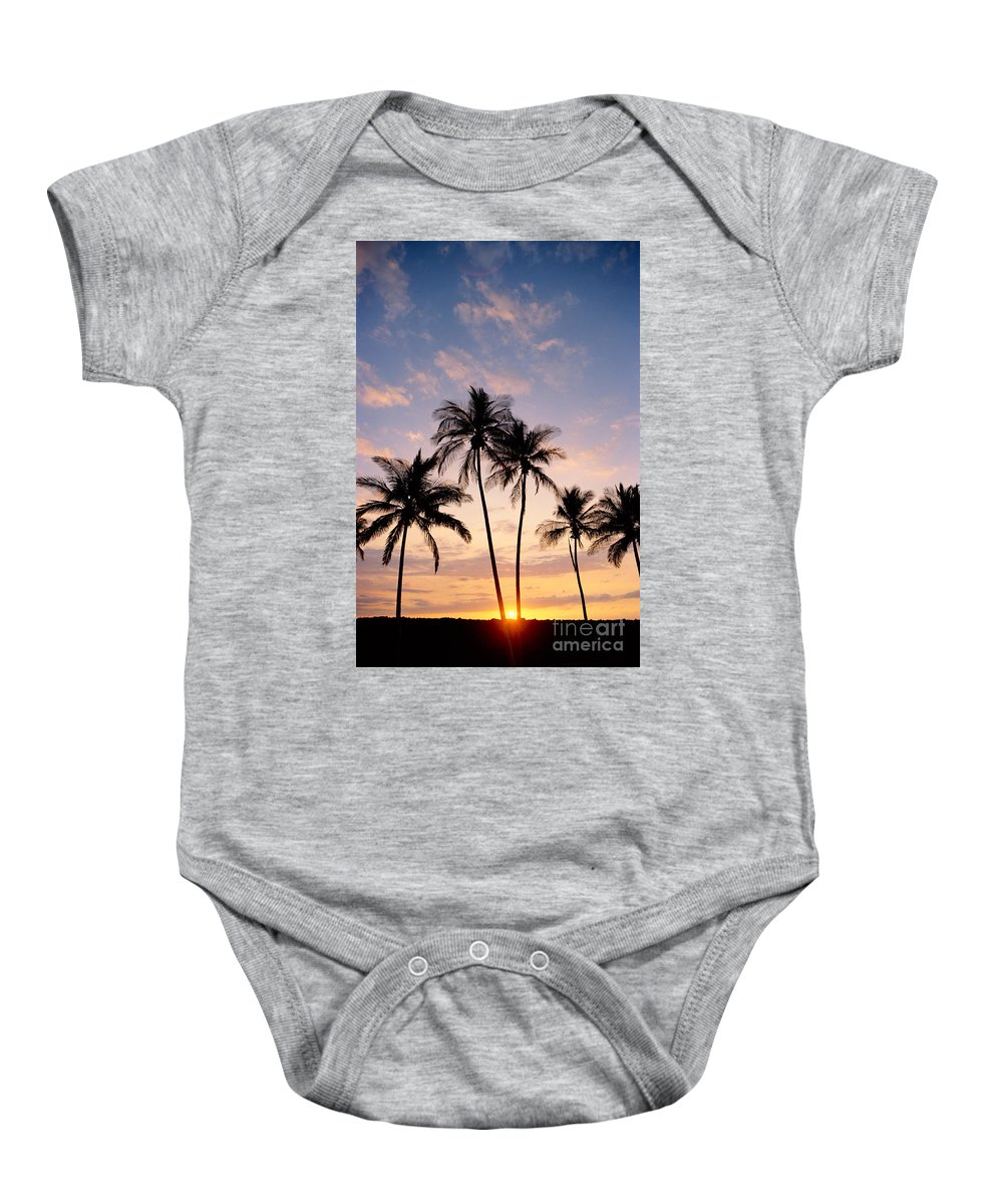 Blue Baby Onesie featuring the photograph View Of Palms by Greg Vaughn - Printscapes