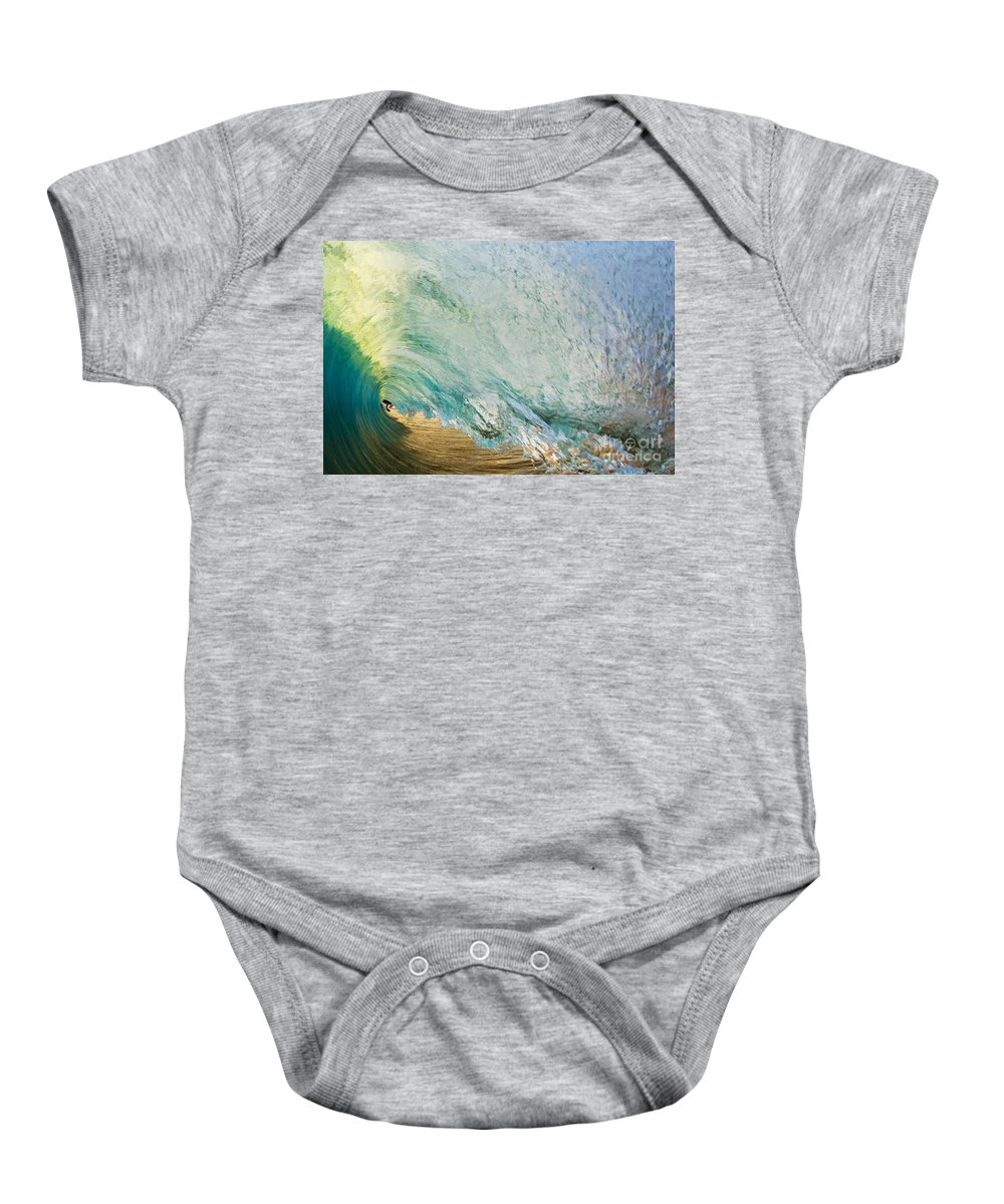 Amazing Baby Onesie featuring the photograph View Through Wave Tube by MakenaStockMedia