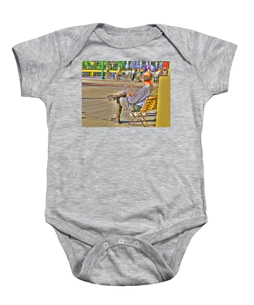 Park Baby Onesie featuring the photograph Viewing Man by Francisco Colon