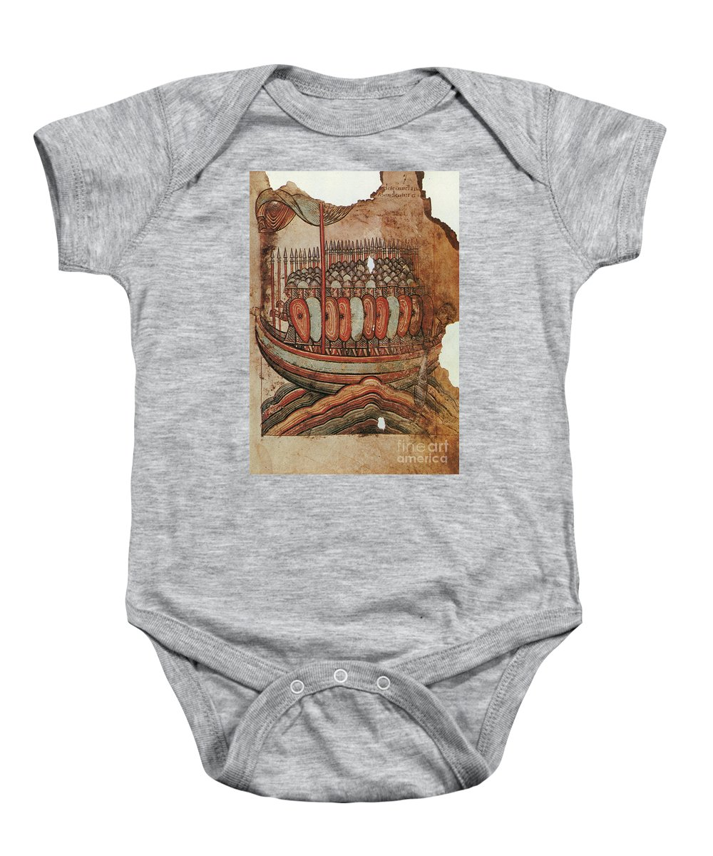 910s Baby Onesie featuring the painting Viking Invasion 919 by Granger