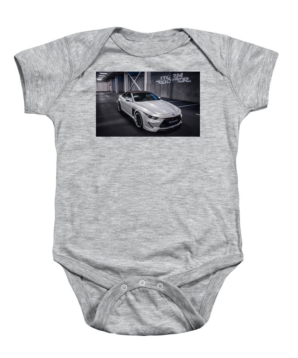 Baby Onesie featuring the digital art Vilner Bmw M6 E64 Stormtrooper 2014 by Alice Kent